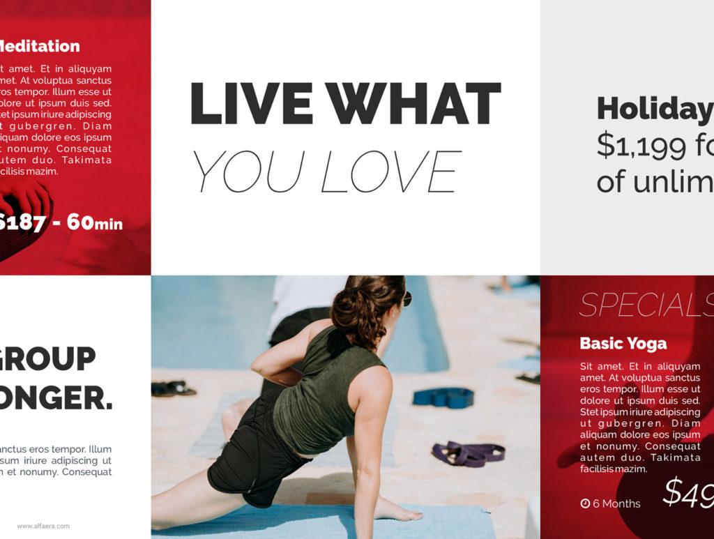 Yoga Flyer Template CorelDraw