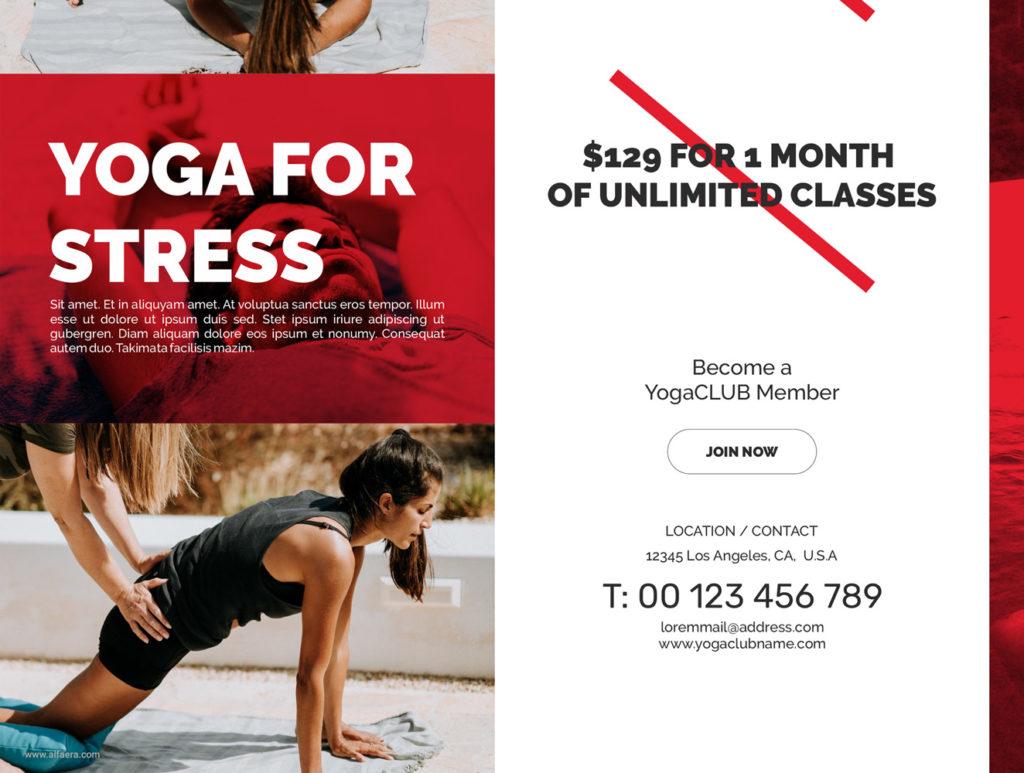 Yoga Studio Flyer Template CorelDraw