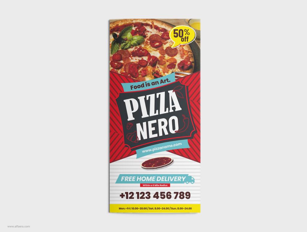 Trifold Pizza CorelDRAW Design