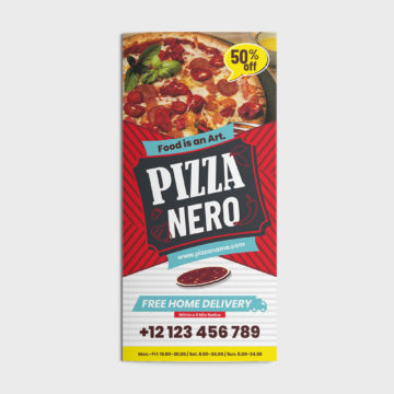 Trifold Pizza CorelDRAW Design